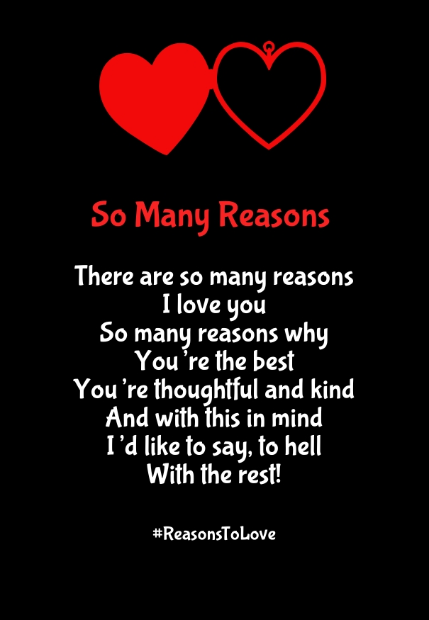 Why I Love You Poems With Reasons For Her Amp Him Quotes