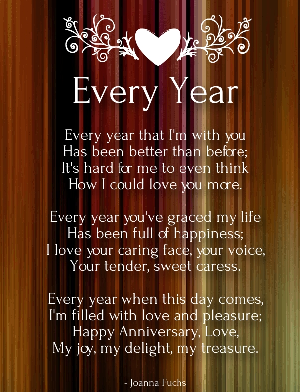 Short Anniversary Sentiments and Poems for Husband - Quotes Square