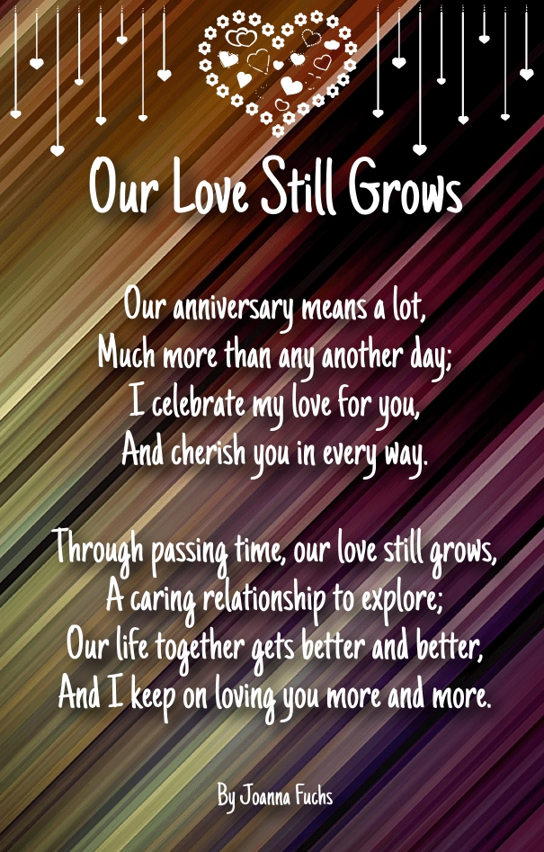 Short Anniversary Sentiments and Poems for Husband