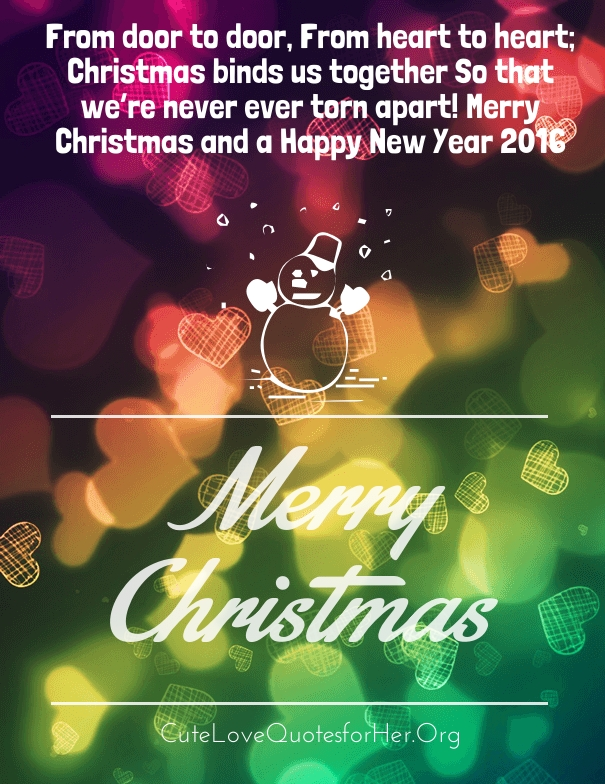 Colorful Merry Christmas Romantic Quotes