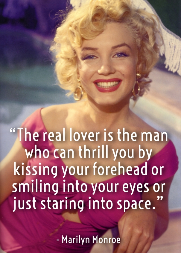 Marilyn Monroe love quotes for her