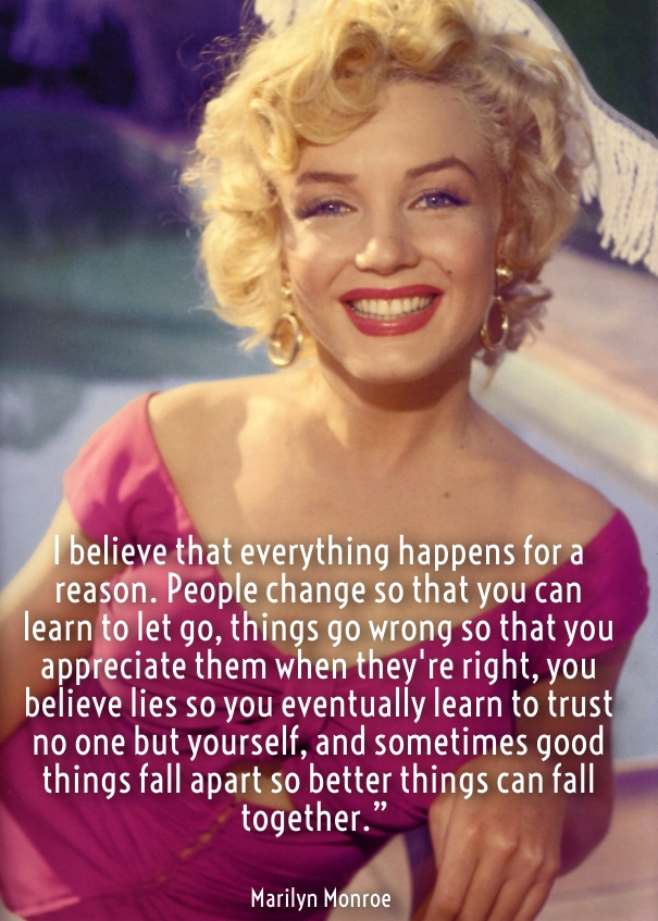 These marilyn monroe quotes provide a glimpse into the fast and furious life she led that was cut short far too soon