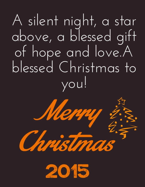 Merry Christmas 2015 cute love quotes messages cards
