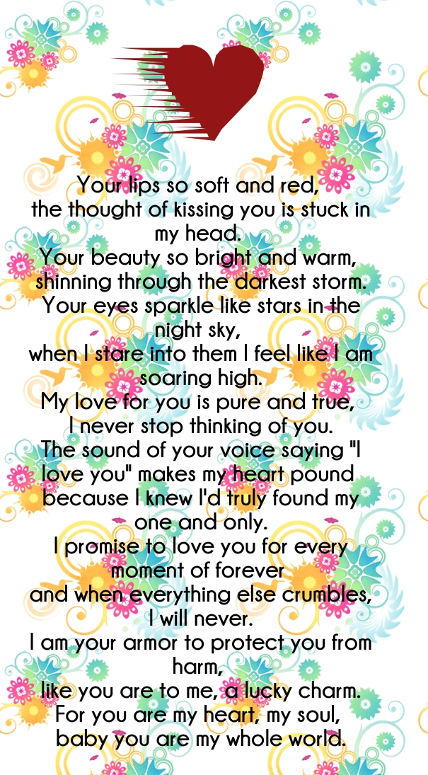 beautiful love poems for him