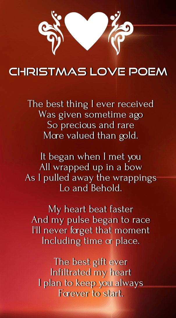Christmas love poems for him merry and happy