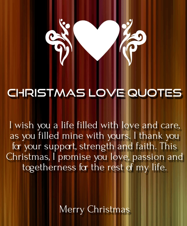 merry christmas quotes about love