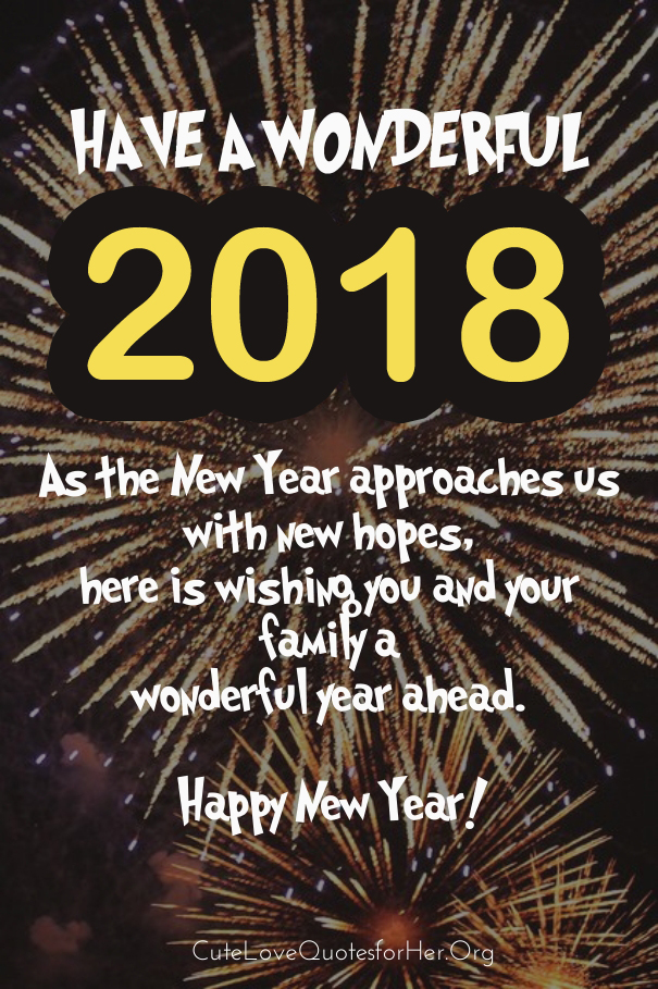 New Year Eve 2018 Greeting Card Happy New Year 2020 Quotes