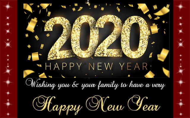50 Happy New Year Cards 2020 with Images - Greeting eCards