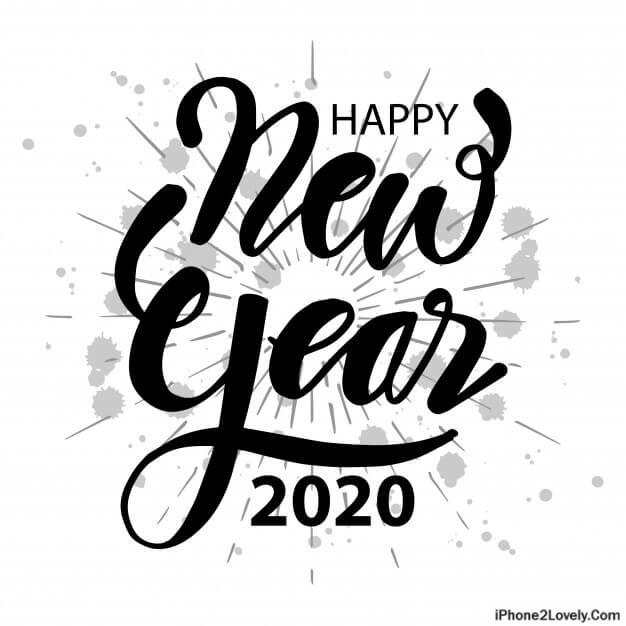 happy new year 2020 black n white wallpaper image quotes square year 2020 black n white wallpaper image