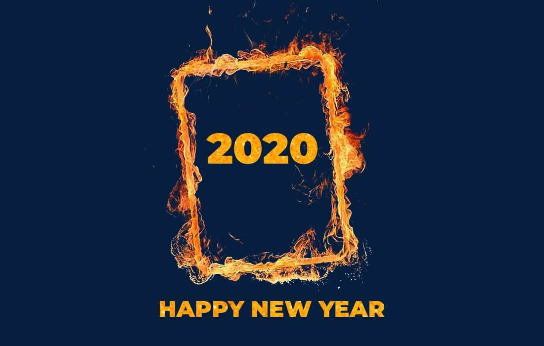 Happy New Year 2020 Fire Wallpaper Hd Happy New Year 2020