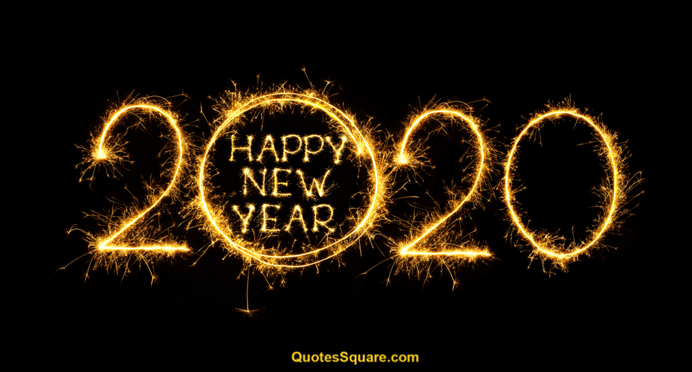 New Year 2020 Banner Love Image Sparkling Happy New Year