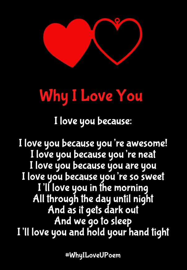 Why I Love You Poems with Reasons for Her & Him - Quotes ...