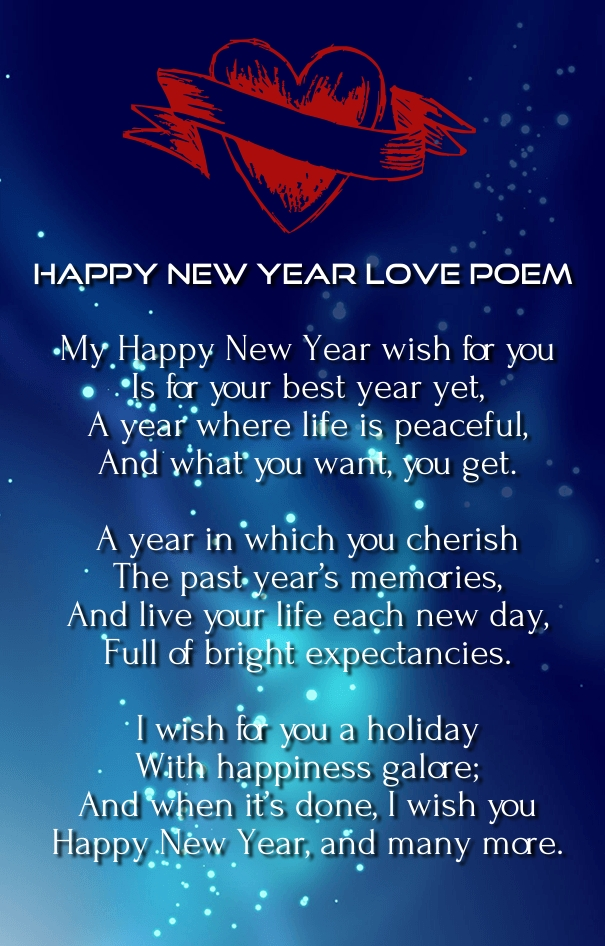 happy new year 2019 love poems