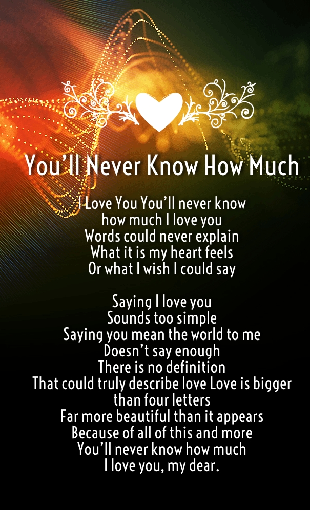 How Much I Love You Poems for him and her images - Quotes Square
