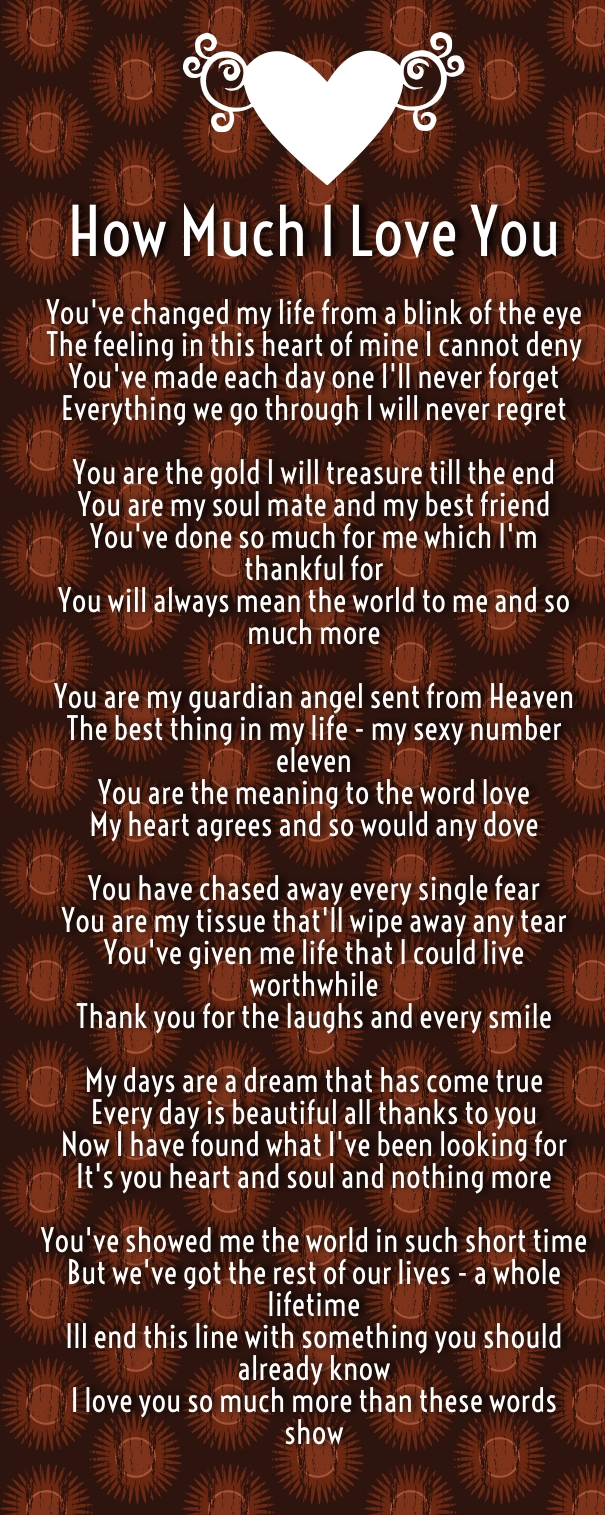 How Much I Love You Poems - Quotes Square