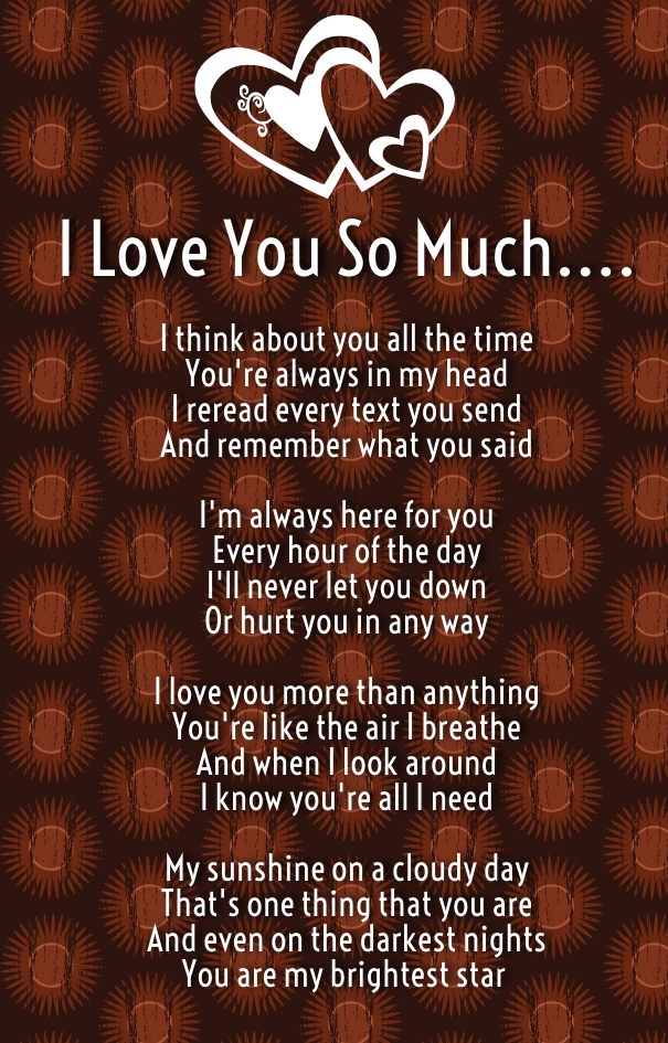 I Love you so much poems - Quotes Square