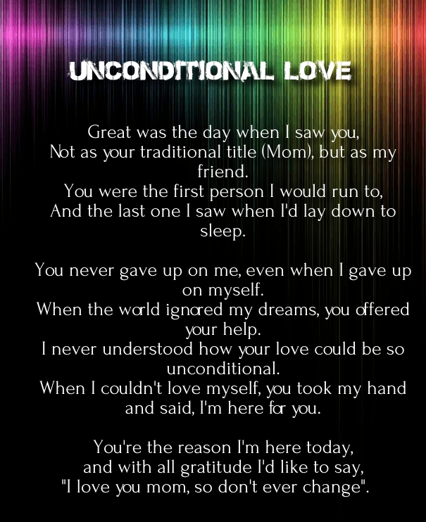 Unconditional Love Poems And Quotes Girlfriend Quotes Square