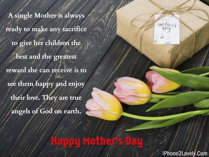 Single Mom Wishes For Happy Mothers Day Quotes Square